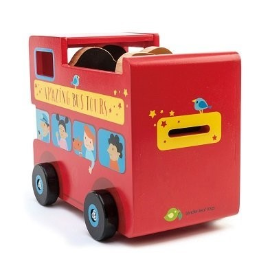 red bus toy