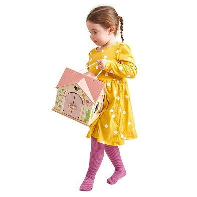 girl carrying rosewood cottage