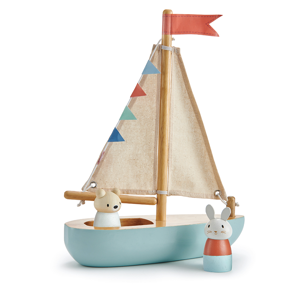 toy sailing boat by tender leaf toys