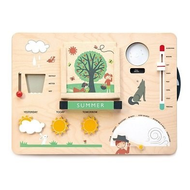 wooden educational weather toy by tender leaf toys