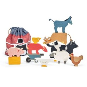 tender leaf toys stacking farmyard wooden stacking animals