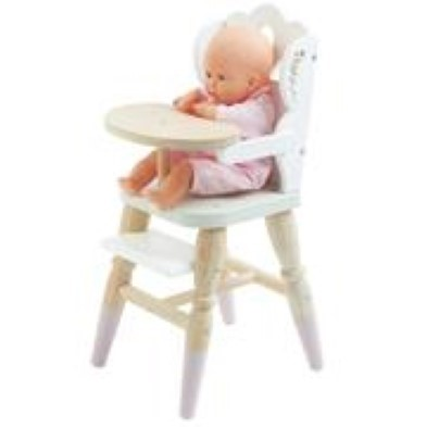 e toy van dolls high chair with baby doll