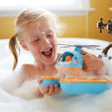 seacopter water toy by green toys with girl