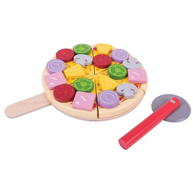 bigjigs wooden play food pizza