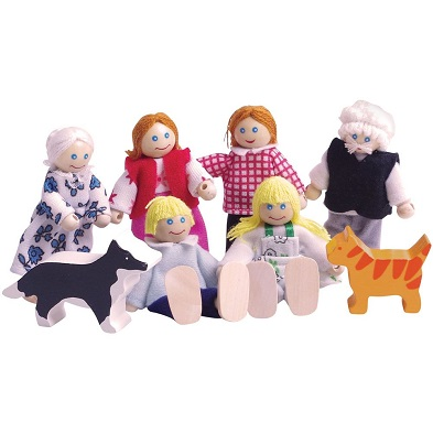 bigjigs heritage wooden doll family