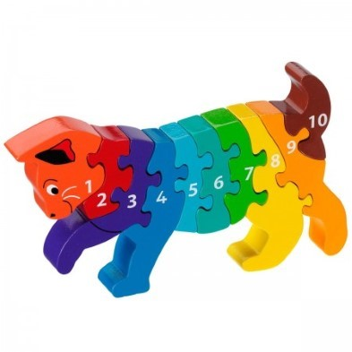 cat puzzle 1-10 wooden jigsaw