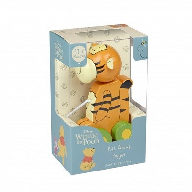 tigger pull along wooden toy by orange tree toys boxed