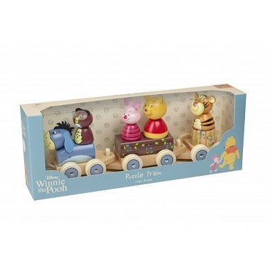winnie the pooh puzzle train by orange tree toys boxed