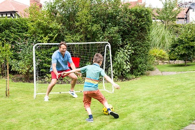 fodable football goal by traditional garden games