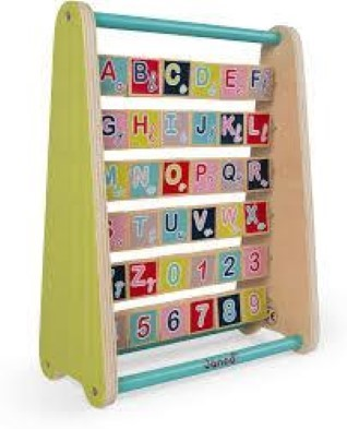 wooden alphabet abacus baby forest abc