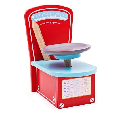 wooden kitchen scales toy by bigjigs toys