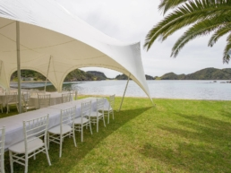 Trestle Tables in Marquee
