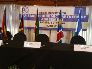 Entry into force of the SADC-EU Economic Partnership Agreement (EPA)