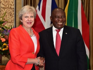 President Cyril Ramaphosa and UK Prime Minister Theresa May's press statements in Cape Town, South Africa
