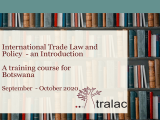 A training course for Botswana: International Trade Law and Policy – an Introduction