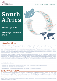 South Africa: Trade update, January-October 2020