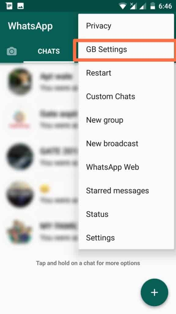 Gb whatsapp features