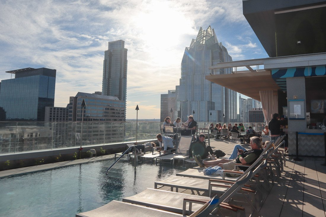 Azul Rooftop Pool and Bar Austin Westin Hotel_