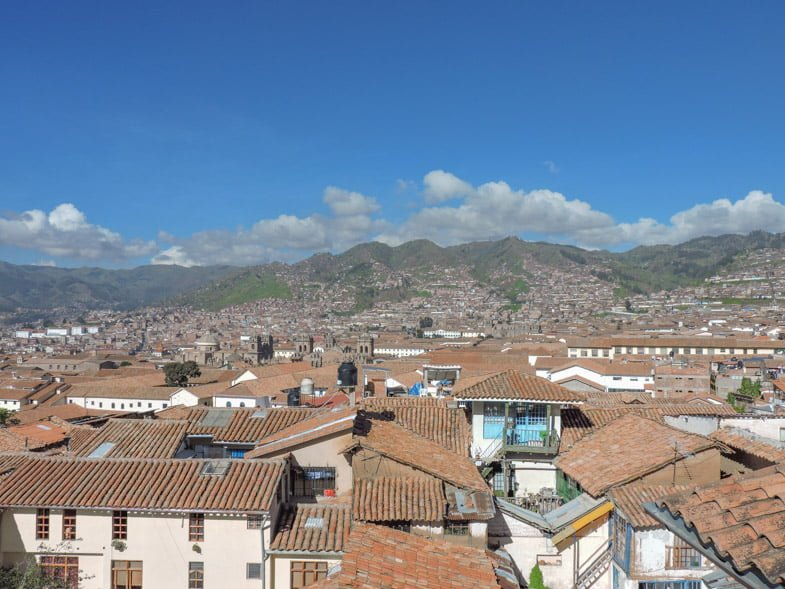 Andean Mountains from Thomas Grill hostels in Cusco Peru