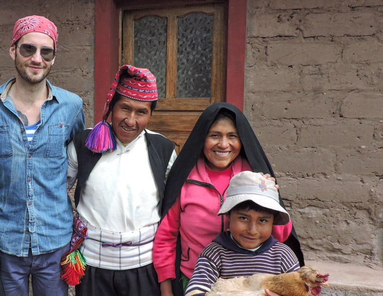 Taquile Island Homestay family