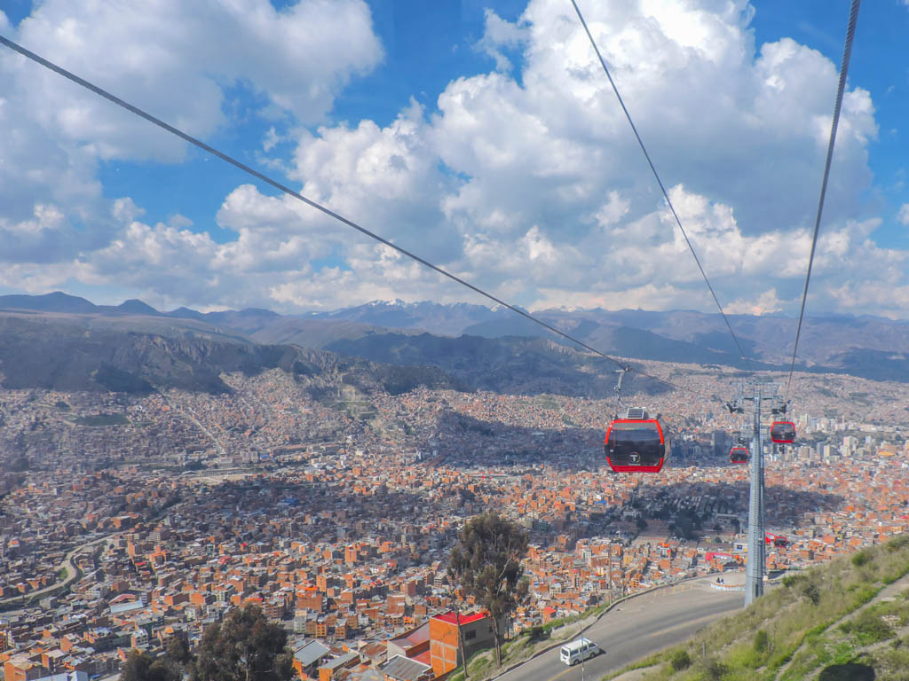 Cable Cars in La Paz I 10 Things to do in La Paz Bolivia