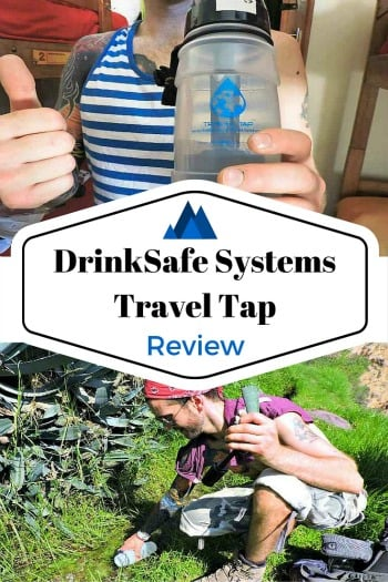Honest review of water filtering and purifying bottles. Including DrinkSafe Systems Travel Tap. Safe drinking and saving the environment.