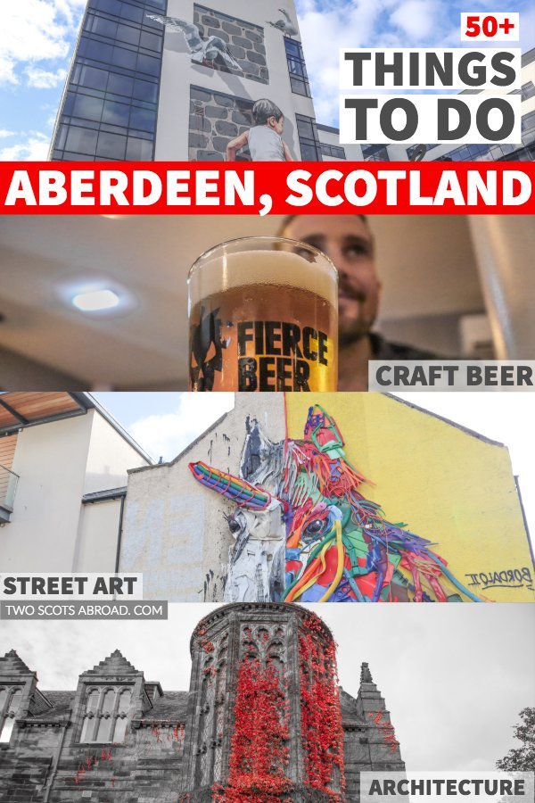 Things to do in Aberdeen Scotland - Visit Old Aberdeen, see the street art and check out the craft beer.