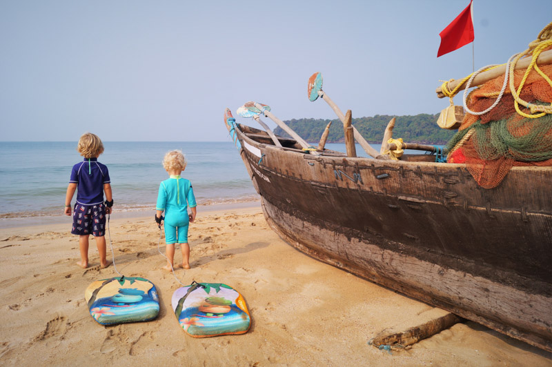 Goa Beach with boat