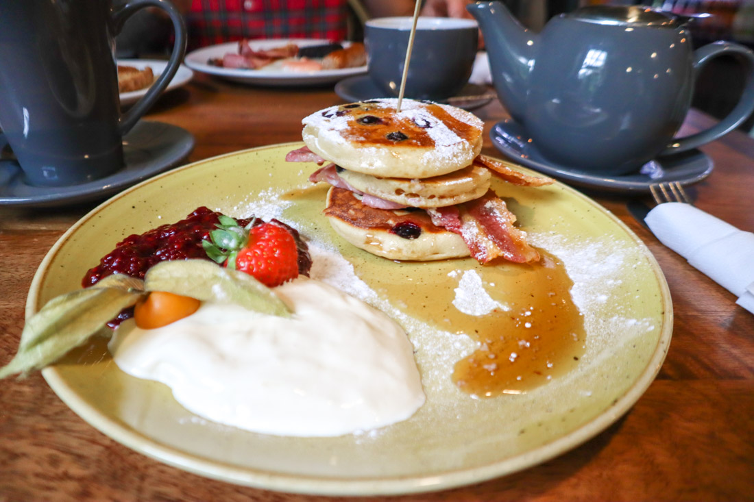 Pancakes River Bothy Cafe in Berriedale North Coast 500 Scotland_