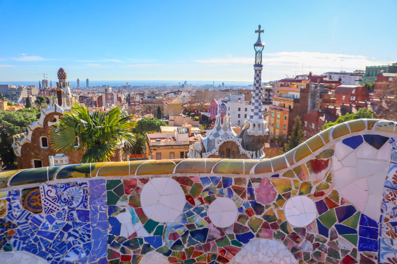 Guell Barcelona Views of City From Balcony