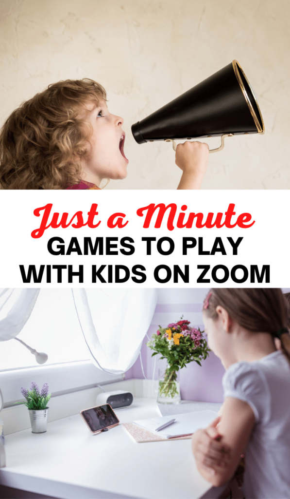 Just a Minute. Zoom games to play with kids and Zoom activities