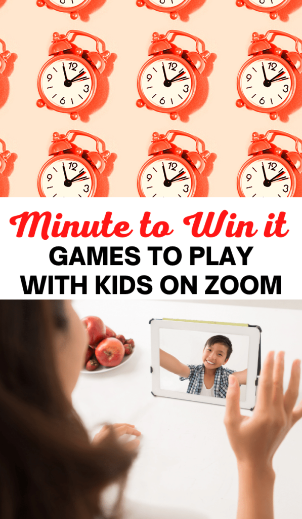 Minute to Win it. Zoom games to play with kids and Zoom activities