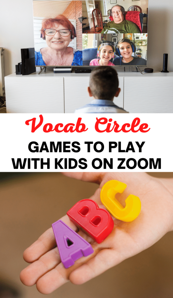 Vocab Circle. Zoom games to play with kids and Zoom activities