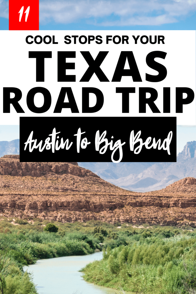 Looking for Texas road trip ideas? This guide details exactly which stops to take from Austin to Big Bend National Park featuring BBQ, nature and art. Texas road trip map included inside as well as useful tips and Texas pictures.