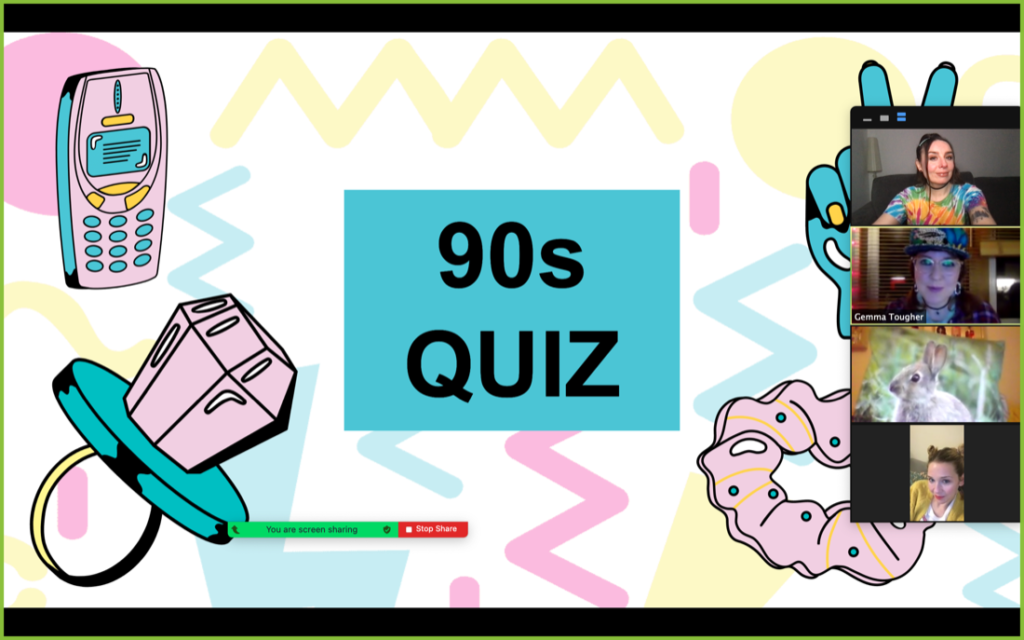 90s Quiz Friends Playing