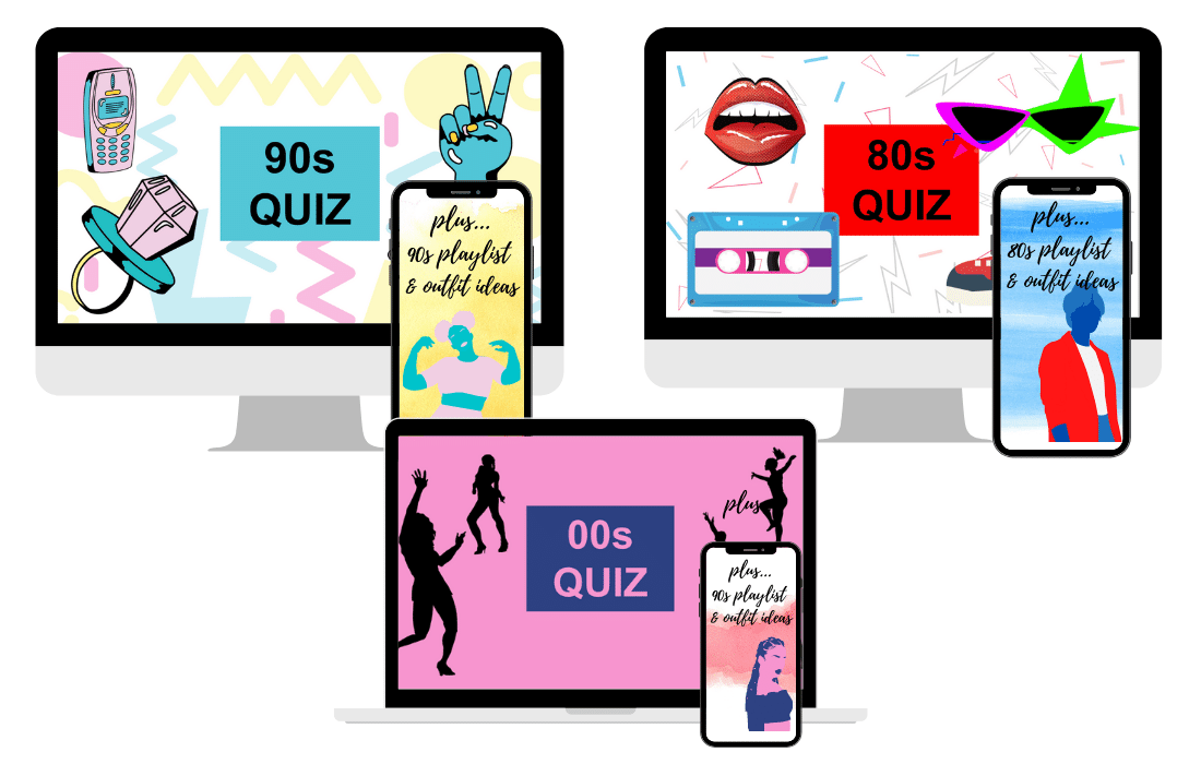 80s, 90s, 00s Trivia Quiz Online Games covers on iMac and iPhone