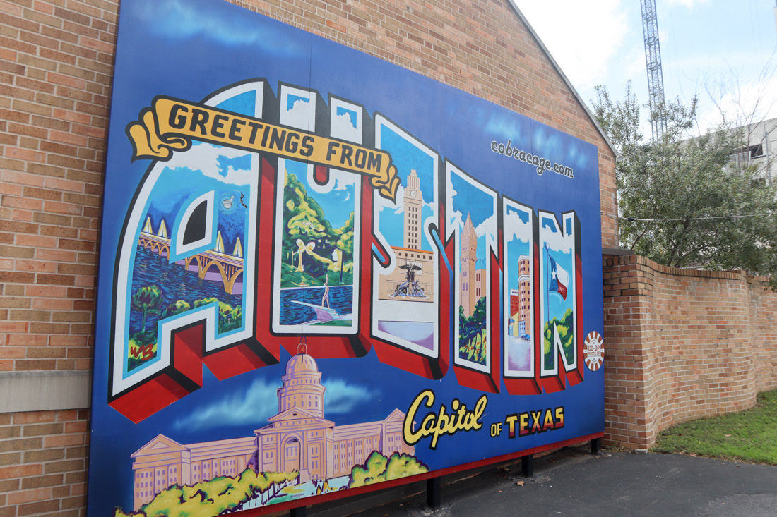Greetings from Austin Postcard Mural