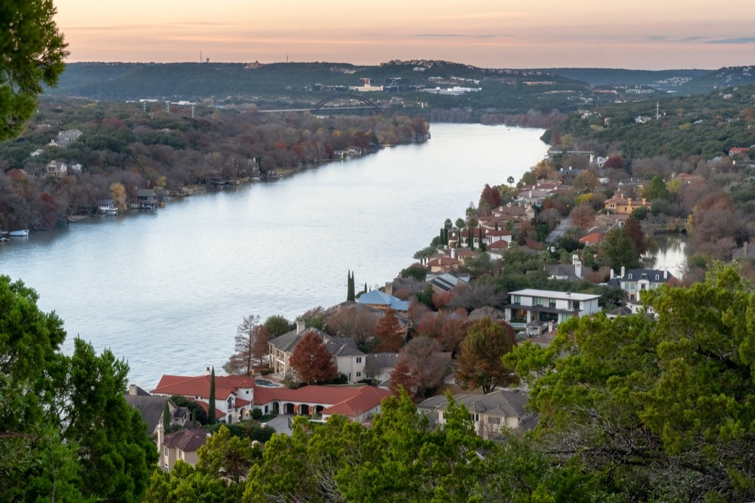 Mount Bonnell. Austin. Sunset.