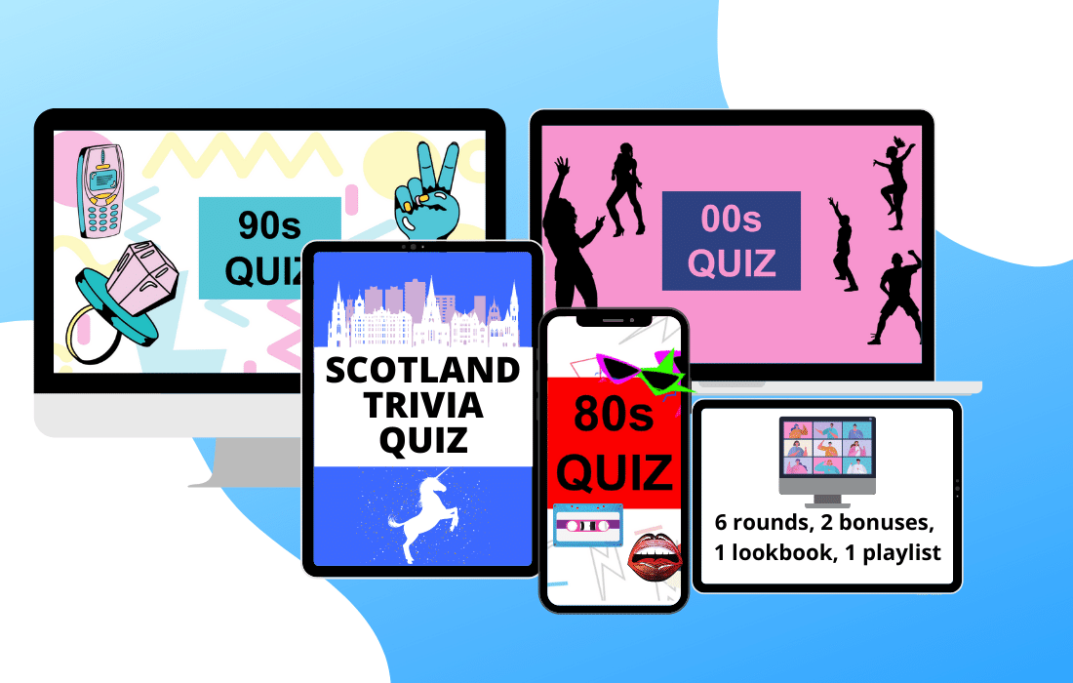 Selection of devices showing trivia quizzes