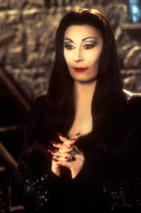 morticia addams fancy dress themed party