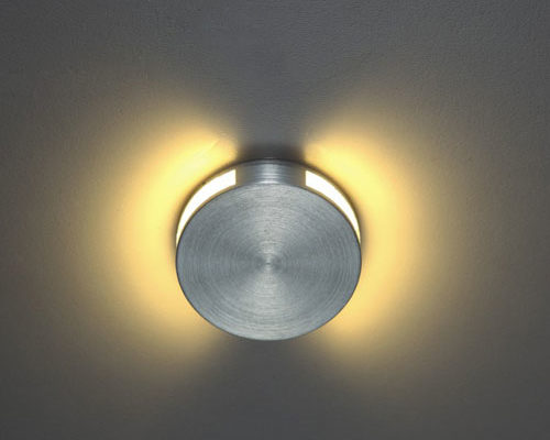 halo round recessed led wall light