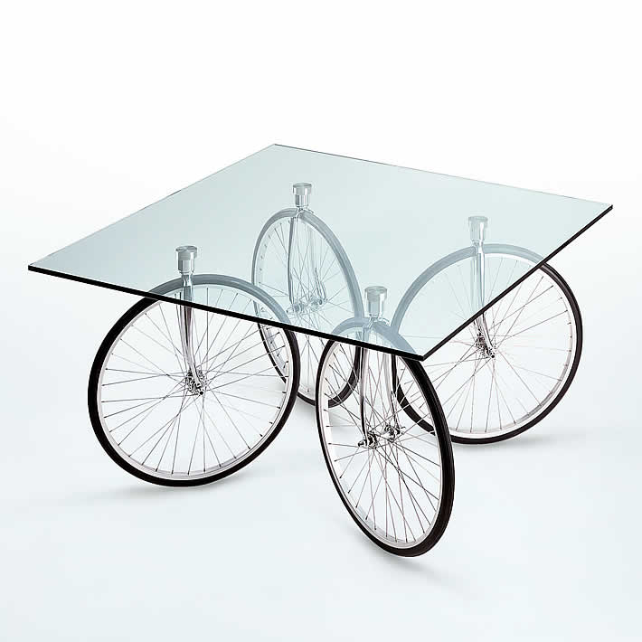 Tour Table On Bicycle Wheels By Gae Aulenti