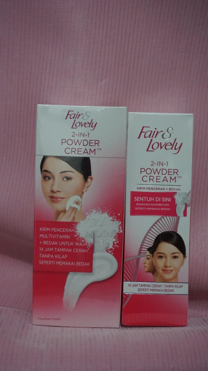 Review Fair & Lovely 2 in 1 Powder Cream