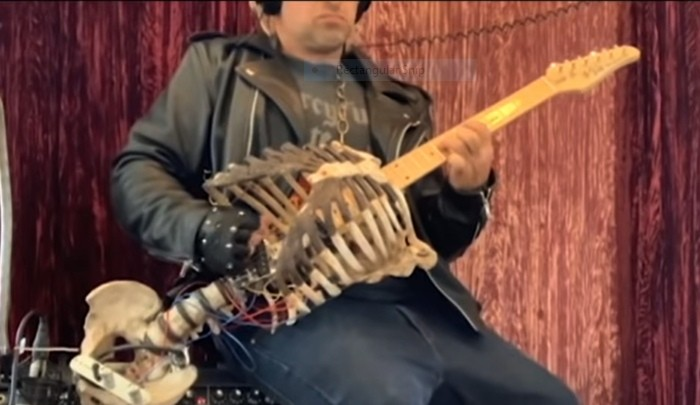 Metalhead Skeleton Guitar