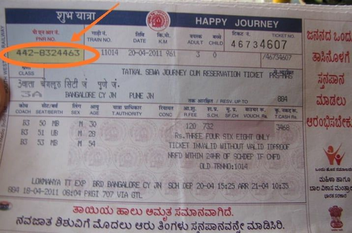 PNR FULL FORM NUMBER IN HINDI