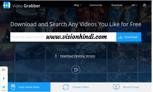 Video Grabber-Youtube Video Downloader Site List