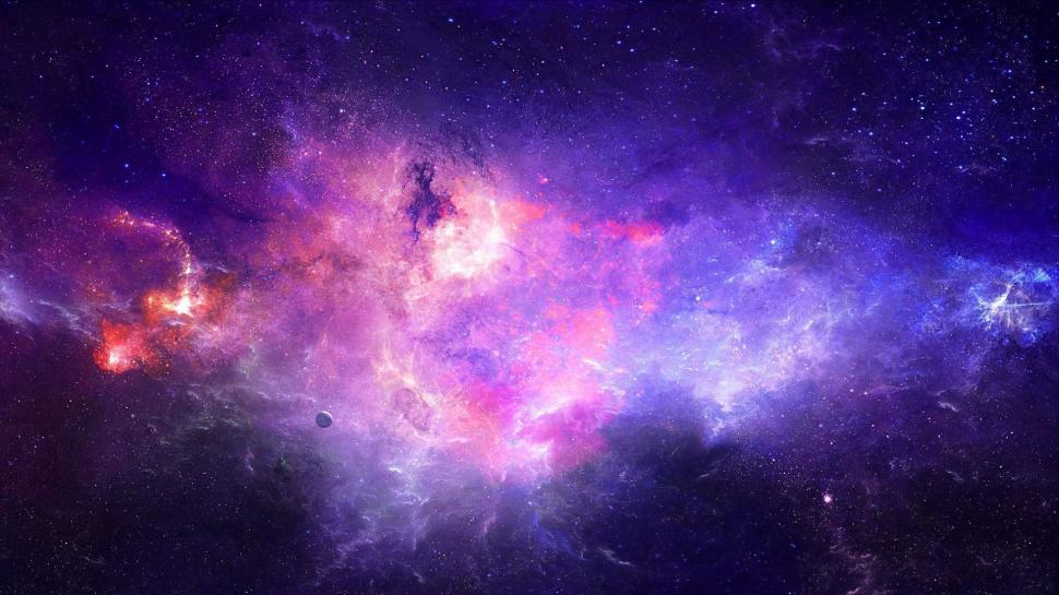 beautiful galaxy high res image 1080P wallpaper middle size