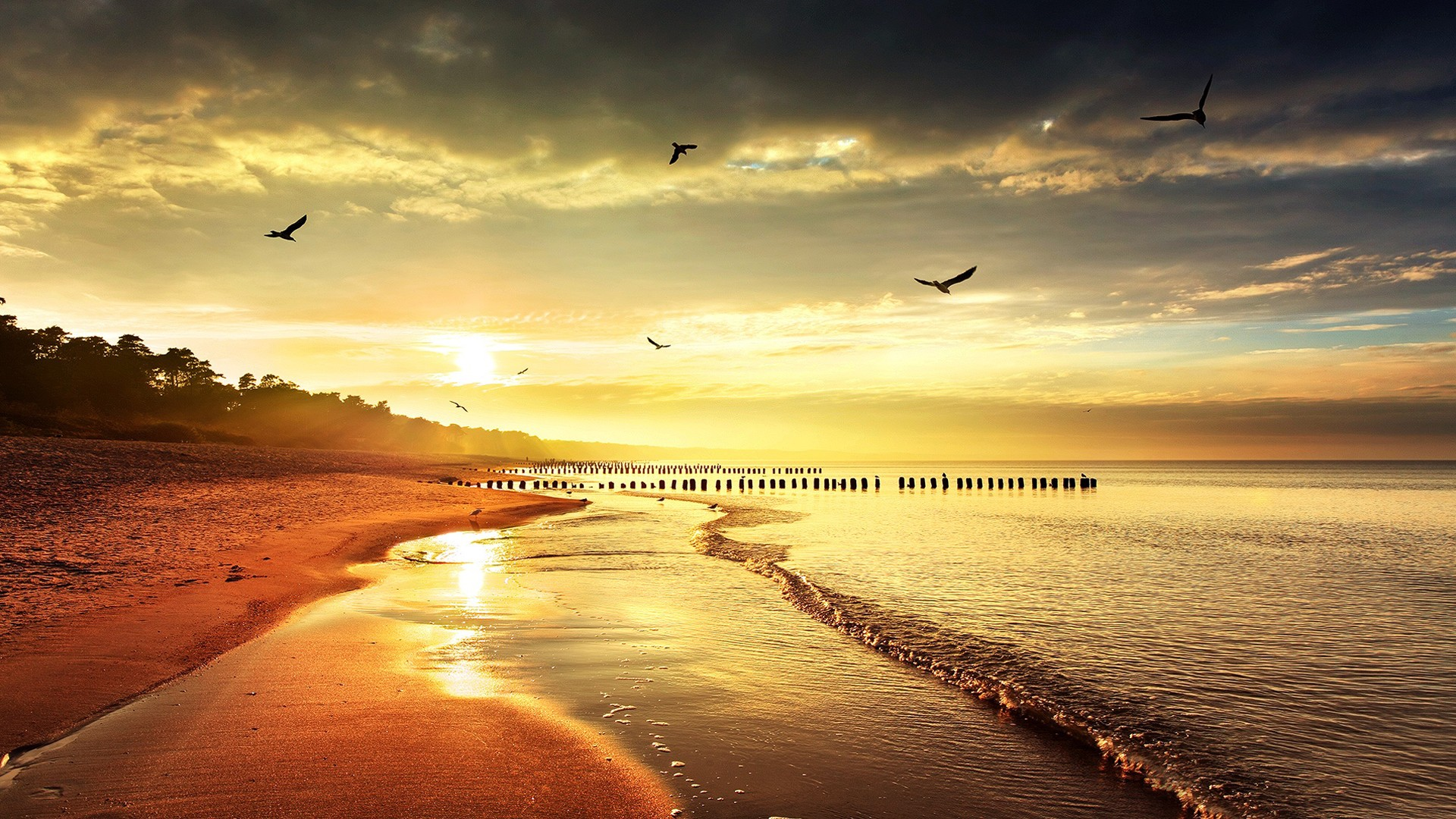 Sunset Beach Wallpaper Hd 1080p