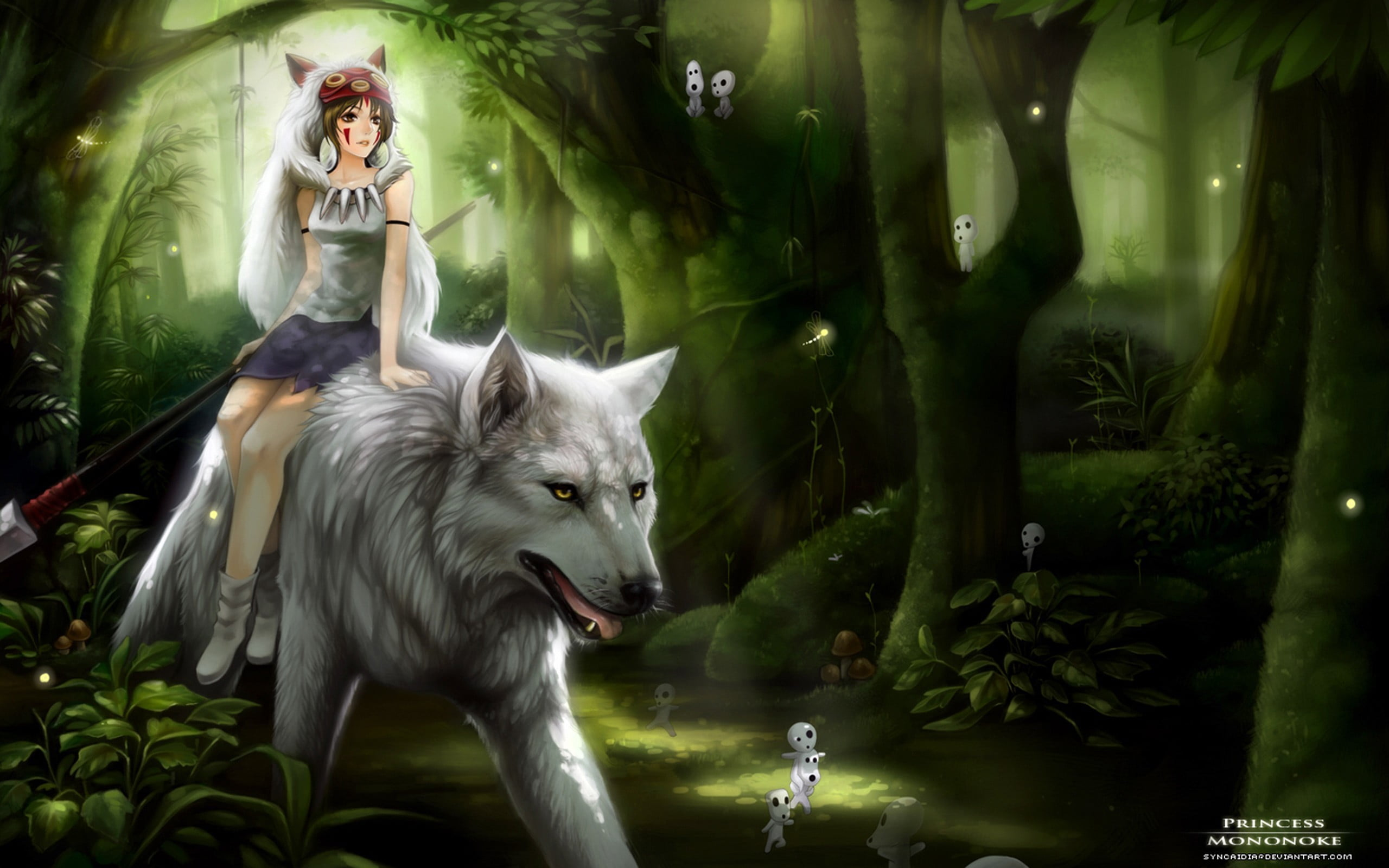 Anime White Wolf Wallpaper