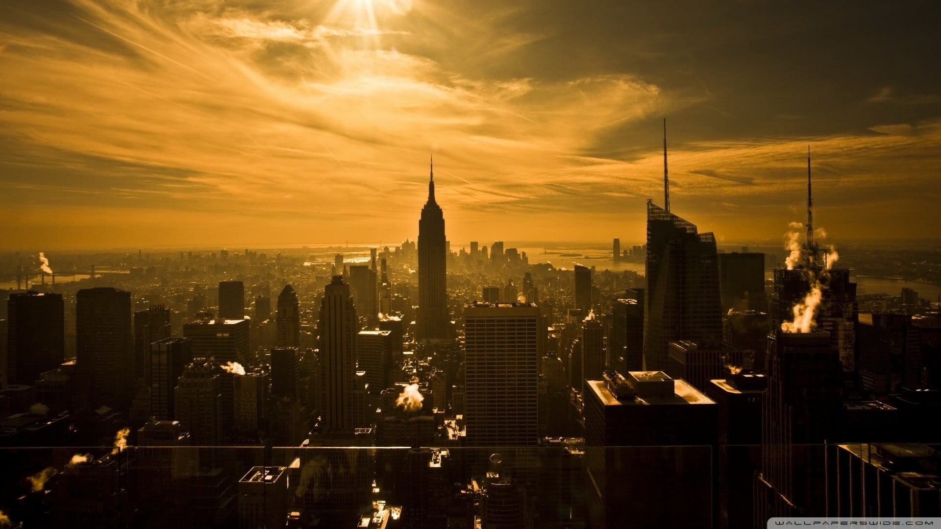 Dark New York City Wallpaper